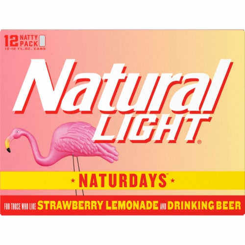 Natural Light® Naturdays™ Strawberry Lemonade Beer Perspective: back