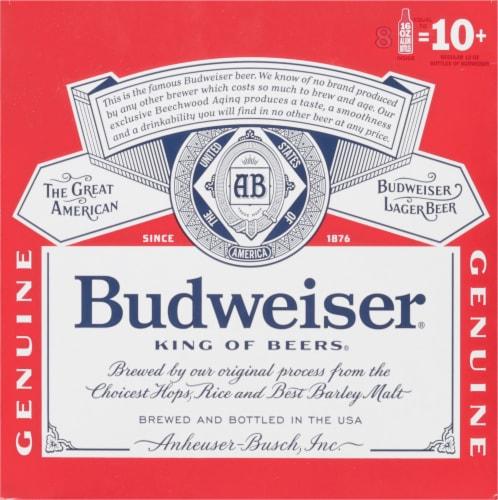 Budweiser Lager Beer Perspective: back