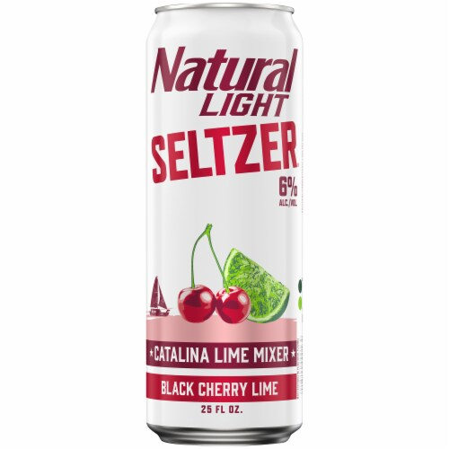 Natural Light Seltzer® Black Cherry Lime Catalina Lime Mixer Perspective: back