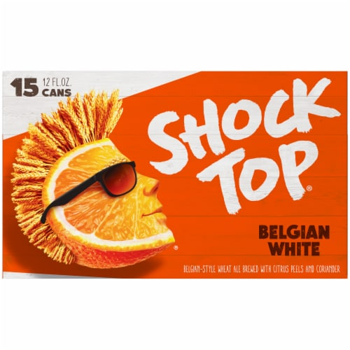 Shock Top® Belgian White Wheat Ale Beer Perspective: back