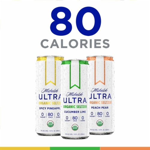 Michelob Ultra™ Organic Seltzer First Edition Flavors Variety Pack Perspective: back