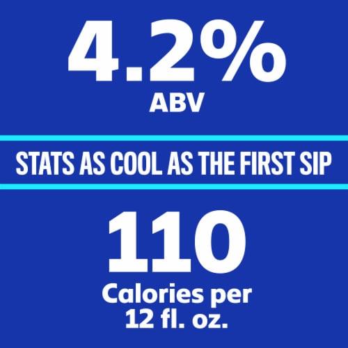 Bud Light Lager Beer Perspective: back