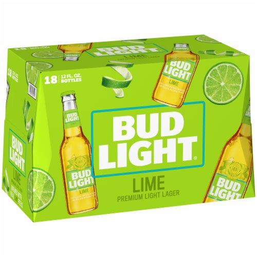 Bud Light Lime Lager Beer Perspective: back