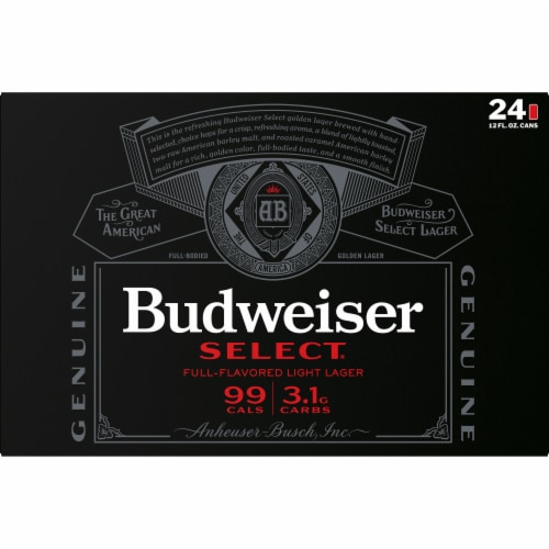 Budweiser Select® Lager Beer Perspective: back