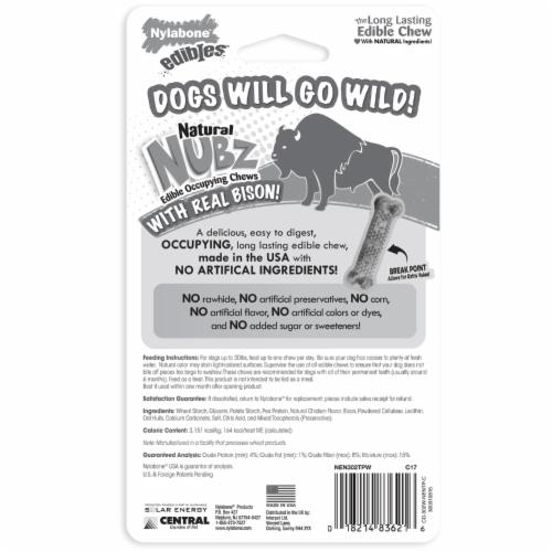 Nylabone Edibles Natural Nubz Wild Bison Flavor Dog Chews Perspective: back