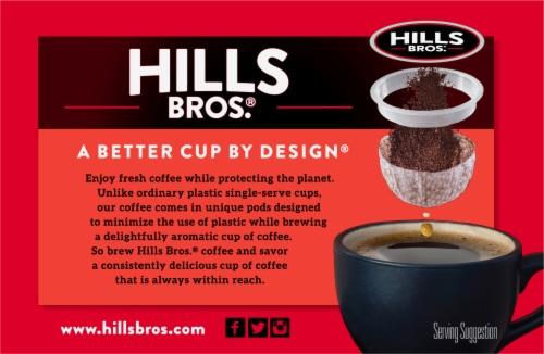 Hills Bros.® Gourmet Medium Roast Coffee Single Serve Cups Perspective: back
