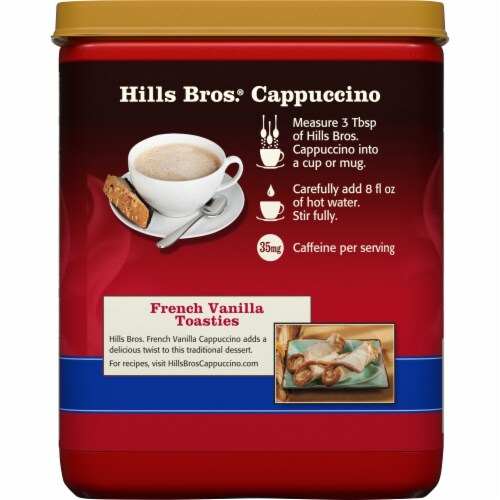 Hills Bros. French Vanilla Cappuccino Drink Mix Perspective: back