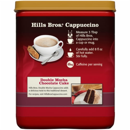 Hills Bros.® Double Mocha Cappuccino Drink Mix Perspective: back