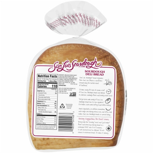 San Luis Sliced Sourdough Deli Bread Perspective: back