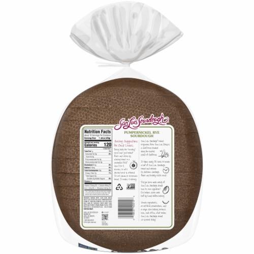 San Luis Sourdough® Pumpernickel Rye Sourdough Bread Perspective: back