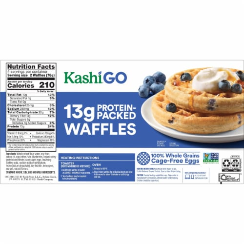 Kashi Golean Wild Blueberry Protein Waffles Perspective: back