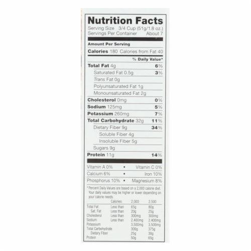 Kashi Cinnamon Crisp Cereal - Case of 12 - 14 oz. Perspective: back