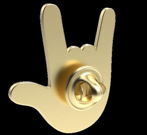 IG Design Pride Pin Perspective: back