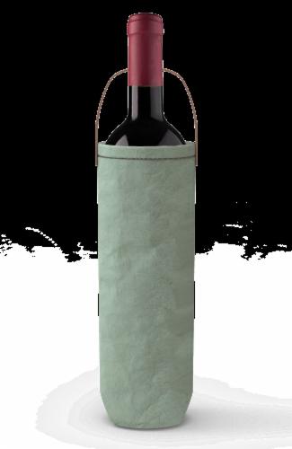 IG Design Kraft Wine Bag - Mint Washed Perspective: back