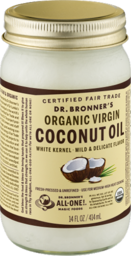 Dr. Bonner's Organic Virgin Coconut Oil Perspective: back