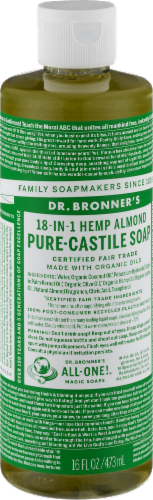 Dr. Bronner's 18-in-1 Hemp Almond Pure-Castile Liquid Soap Perspective: back
