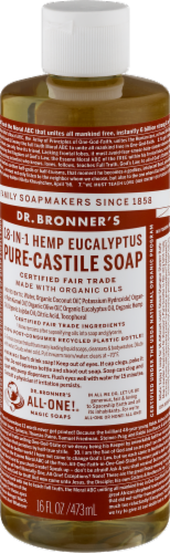 Dr. Bronner's 18-in-1 Hemp Eucalyptus Pure-Castile Liquid Soap Perspective: back
