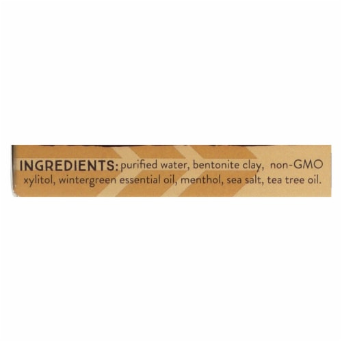 Redmond Earth Paste Wintergreen Amazingly Natural Toothpaste Perspective: back