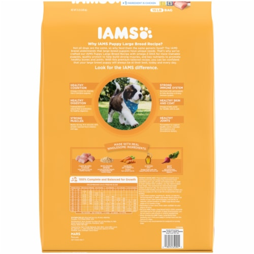 IAMS Proactive Health Smart Chicken Large Breed Dry Puppy Food Perspective: back