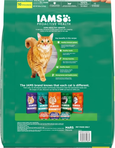 IAMS™ Proactive Health™ Healthy Senior with Chicken Dry Cat Food Perspective: back