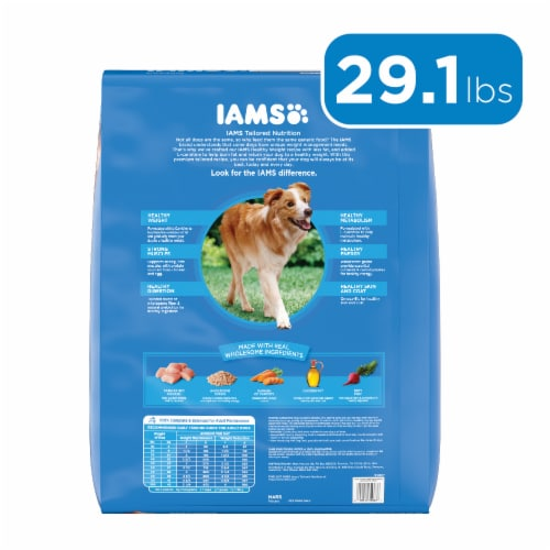 IAMS Healthy Weight with Chicken Adult Dog Food Perspective: back