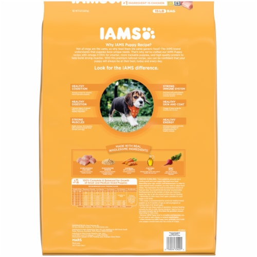 IAMS™ ProActive Health Smart Chicken & Whole Grains Dry Puppy Food Perspective: back