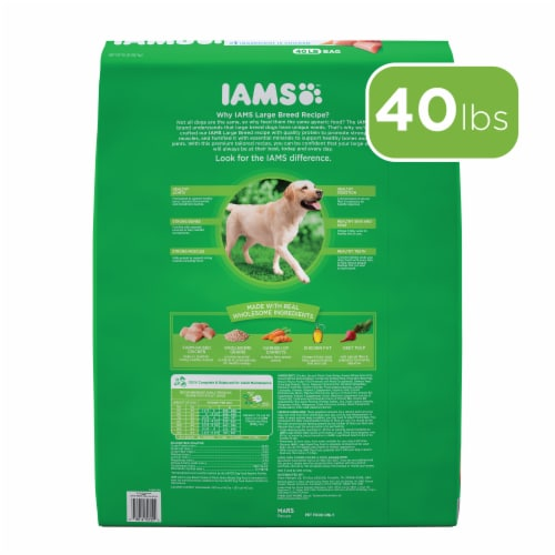 Iams Real Chicken Large Breed Dry Dog Food Perspective: back