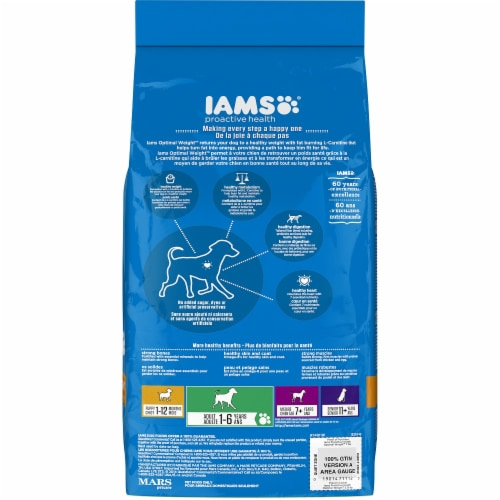 IAMS Proactive Health Weight Control 7 Lb. Adult Dry Dog Food 111239 Perspective: back