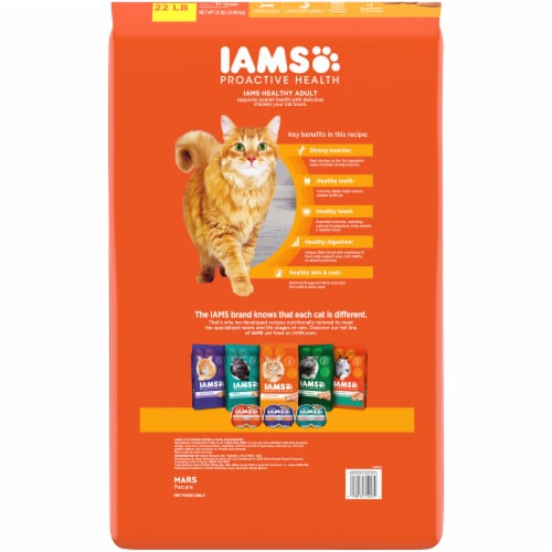 IAMS™ Proactive Health Healthy Adult with Chicken Dry Cat Food Perspective: back