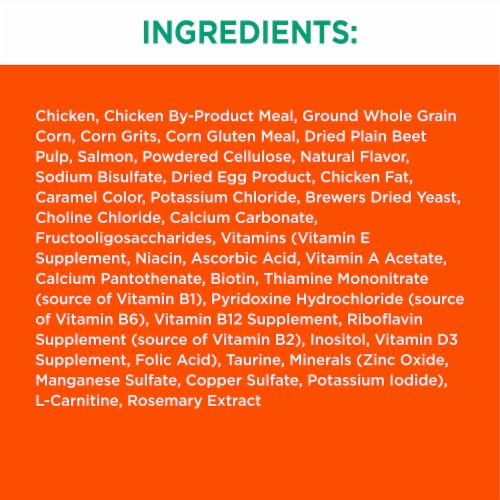 IAMS Proactive Health Hairball Care with Chicken & Salmon Adult Cat Food Perspective: back