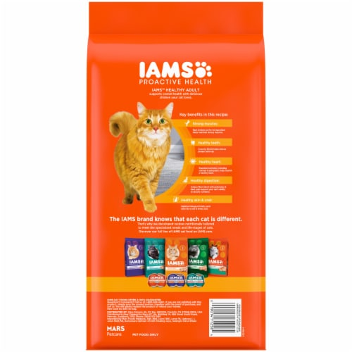 IAMS Proactive Health Healthy Adult with Chicken Dry Cat Food Perspective: back