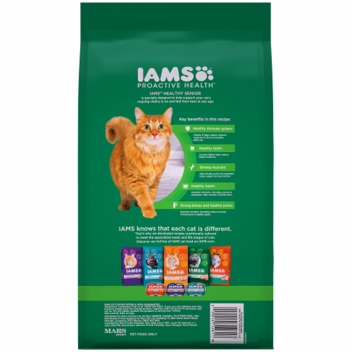 IAMS Proactive Health Healthy Senior Chicken Dry Cat Food Perspective: back