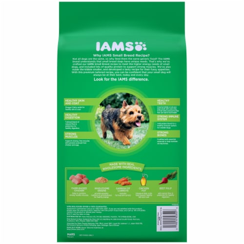 IAMS Proactive Health with Chicken Small Breed Premium Dry Dog Food Perspective: back