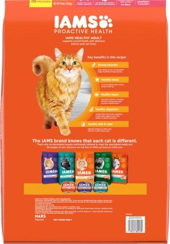 IAMS™ ProActive Health™ Healthy Adult with Salmon & Tuna Cat Food Perspective: back