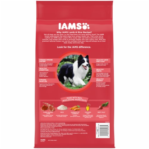 IAMS Proactive Health Lamb and Rice Dry Dog Food Perspective: back