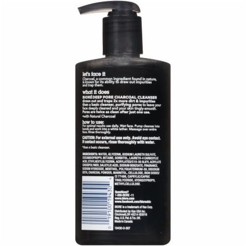 Biore Deep Pore Charcoal Cleanser Perspective: back