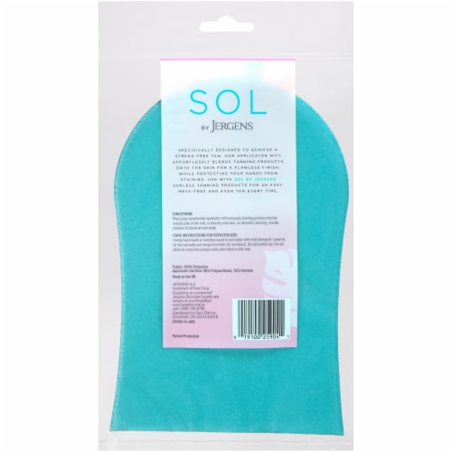 Jergens Sol Sunless Tanning Body Mitt Perspective: back