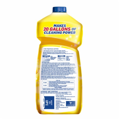 Lysol Clean & Fresh Sparkling Lemon & Sunflower Essence Scent Multi-Surface Cleaner Perspective: back