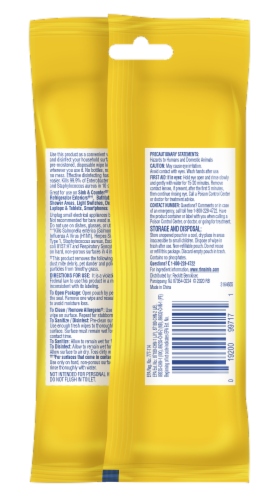 Lysol Disinfecting Wipes To Go Lemon & Lime Blossom Multi-Pack Perspective: back