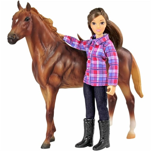 Breyer Freedom Series Western Horse and Rider Doll Kids Toy Set and Accessories Perspective: back