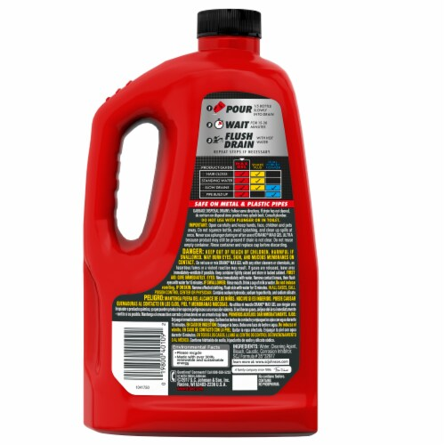 Drano Max Gel Drain Cleaner Perspective: back