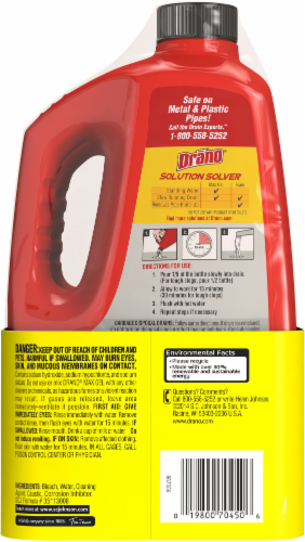 Drano Max Gel Clog Remover Twin Pack Perspective: back