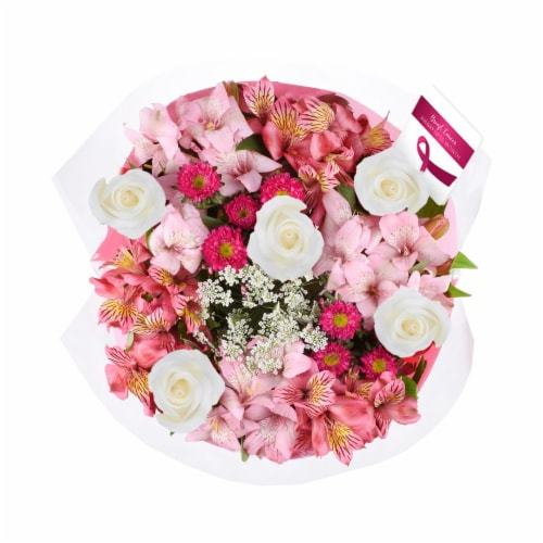 Breast Cancer Awareness Bouquet Perspective: back