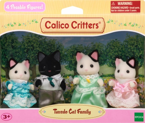 Calico Critters Tuxedo Cat Family Perspective: back