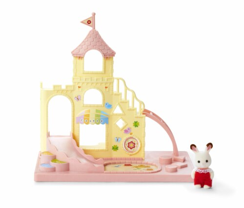 Calico Critters Baby Castle Playground Play Set Perspective: back