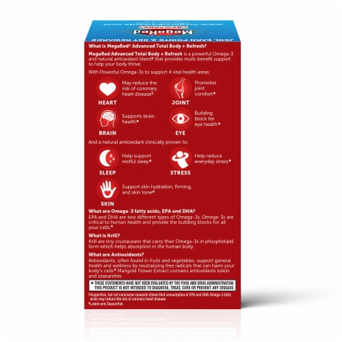 Shiff MegaRed Advanced Total Body Refresh Omega-3s Softgels Perspective: back