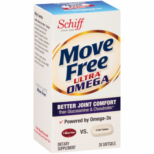 Schiff Move Free Ultra Omega Joint Health Softgels Perspective: back