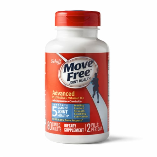 Move Free Advanced Plus MSM and Vitamin D3 Joint Health Supplement Tablets Perspective: back