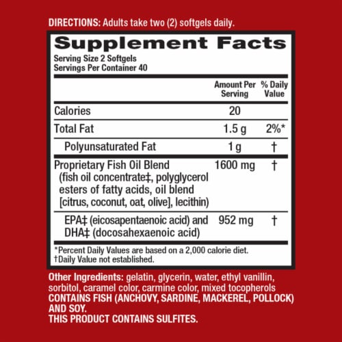 Schiff MegaRed Advanced Absorption Omega-3s Softgels 800mg Perspective: back