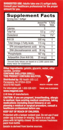 Schiff MegaRed Superior Omega-3 Krill Oil Softgels 500mg Perspective: back